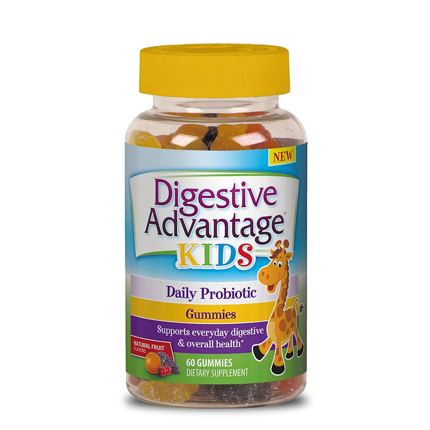 Digestive Advantage Kids Daily Probiotic Gummies in Bottle