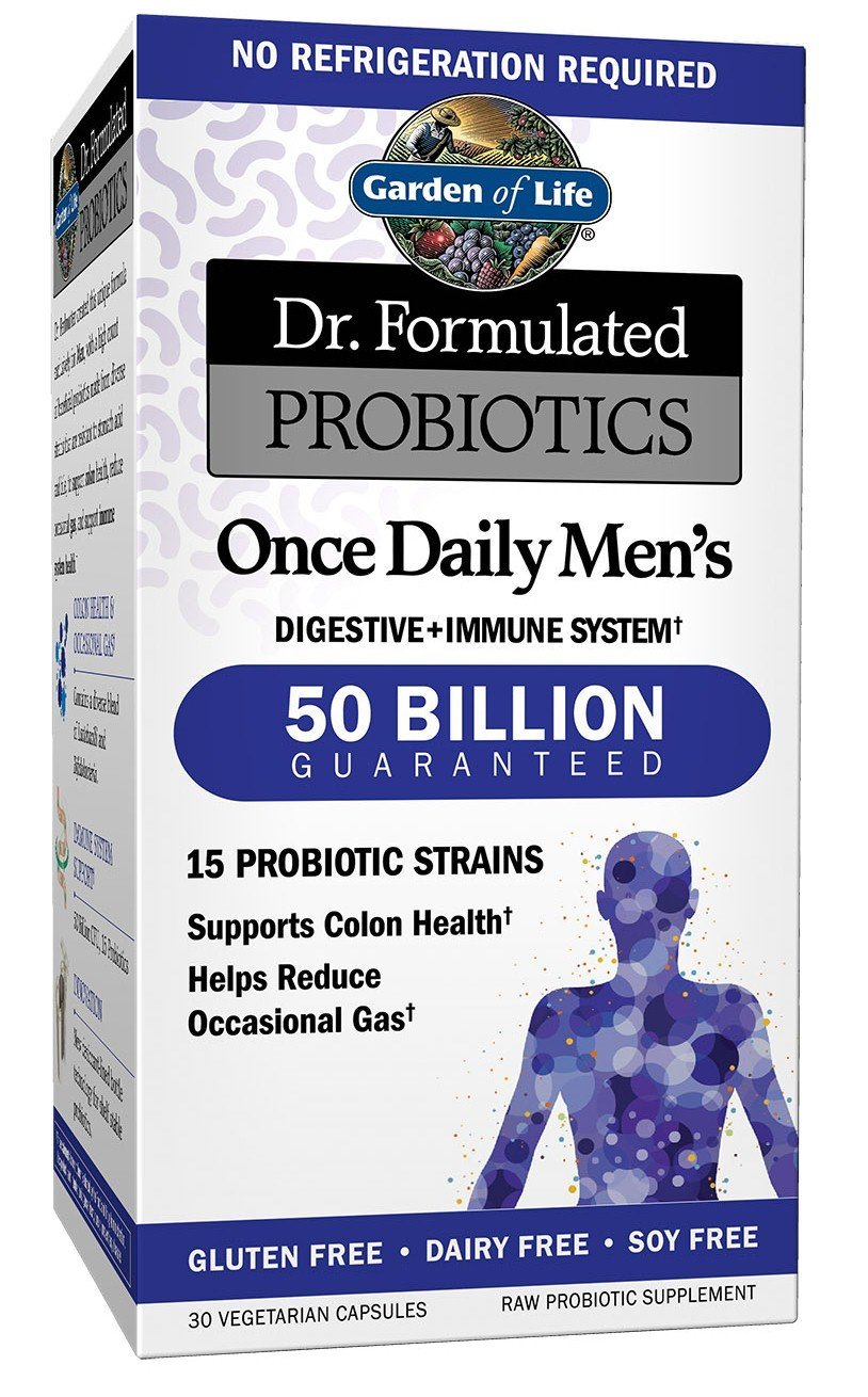 Garden of Life Probiotics Supplement for Men Packaging