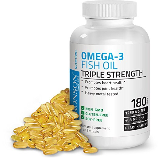 Bronson's Omega 3 Fish Oil Triple Strength