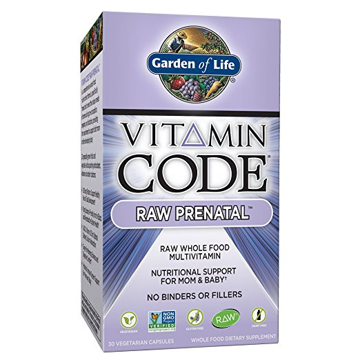 Garden of Life Vegetarian prenatal multivitamin supplement with folate