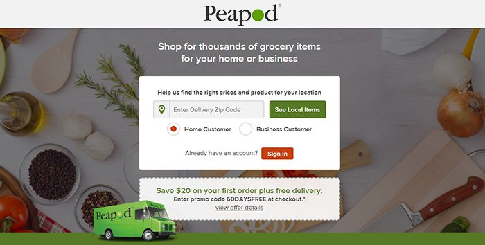 screenshot of peadpod website