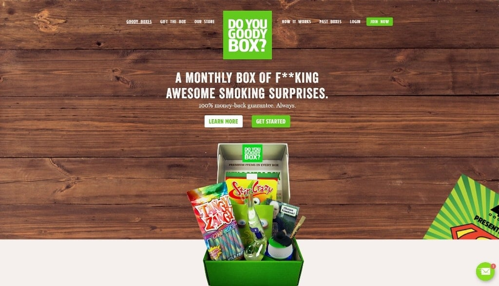 420 Goody Box Homepage Screenshot