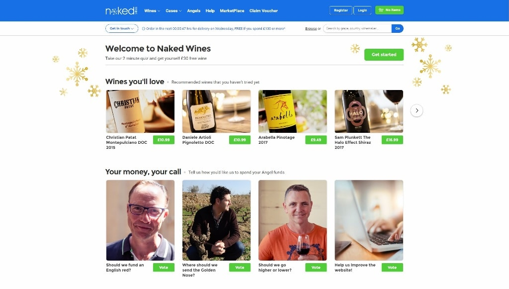 Naked Wines Main Site